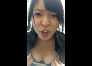 Flashing asian women