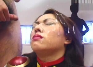 Asian facial cumshot