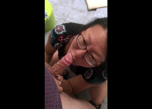 Asian toe sucking